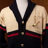 L/SI Shawl Collar with Contrast/Stripe & Pipe