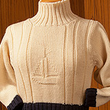 L/SI Turtle Neck Sweater with Contrast Cuffs & Welt